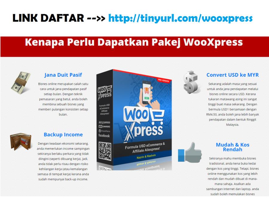 wooxpress, wooxpress review, buat duit dengan ecommerce, duit usd dengan aliexpress, formula usd dengan ecommerce, formula usd dengan aliexpress